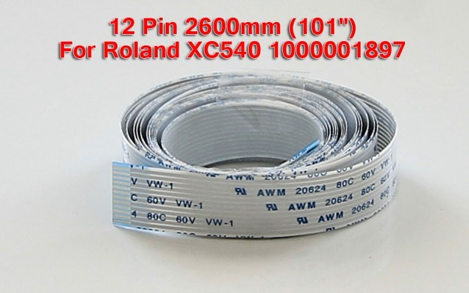 Roland Printer Cable 12 pin 2600mm