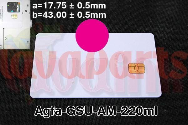 Magenta Agfa GSU AM Chip 220 ml