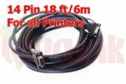 UV Parts Konica KM1024 Long Data Cable 14 Pin 18FT 6M Image