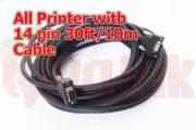 UV Parts Konica KM512 Long Data Cable 14 Pin 30FT 10M Image