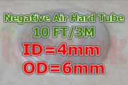 UV Parts Clear Tube ID4 OD6 for Negative Air Pressure Image